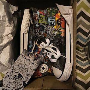 Teen titans go converse shoe size 9